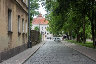 Фото Выборга. Прогонная улица. Видна Круглая башня
