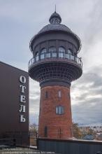 Водонапорная башня в Зеленоградске. Часть гостиничного комплекса Парадокс