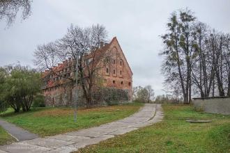 Багратионовск. Форбург замка Прёйсиш-Эйлау. Вид с улицы Промышленной