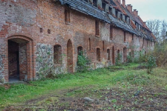Багратионовск. Форбург замка Прёйсиш-Эйлау. Вид со двора