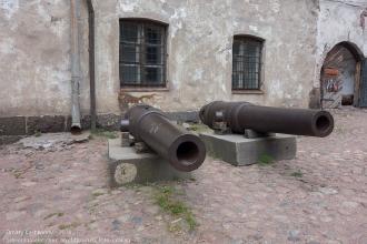 Выборгский замок. Муляжи пушек