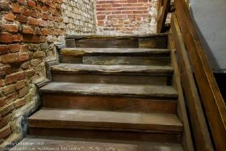 Лестница на 2 этаж. Старинные дубовые ступени Янтарного замка