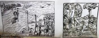 Картины средневековых пыток. Музей Янтарный замок. Зал инквизиции