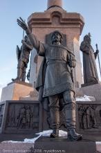 100-летие Ярославля. Памятник. Скульптурная композиция