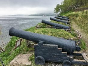 Парк Никольская сопка. Пушки. Авачинская бухта