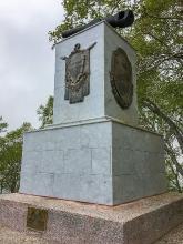 Фото памятника героям III батареи лейтенанта А.П.Максутова. Сделано в парке Никольская сопка Петропавловска-Камчатского