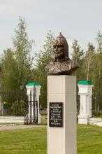 Бюст Александру Невскому в Болдино