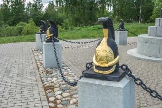 Бородино. Памятник 2 кирасирской дивизии. Установлен в 1912 году