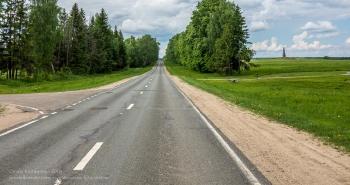 Бородинское поле. Дорога со станции Бородино к музею