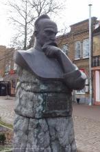 Ейск. Памятник атаману Захарию Чепеге