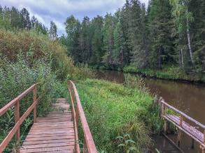 Суеват Пауль. Мостик через ручей. Река Эсс