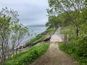 Никольская сопка. Фото с горы на спуск к Авачинской бухте
