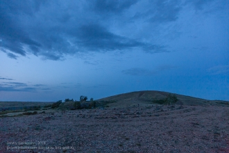 Заповедник Аркаим. Каменный лабиринт у вершины горы Шаманки