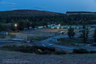 Туристический лагерь заповедника Аркаим готовится ко сну