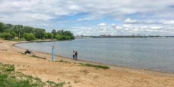 Пикник-парк Якоби. Иркутск. Песчаный пляж