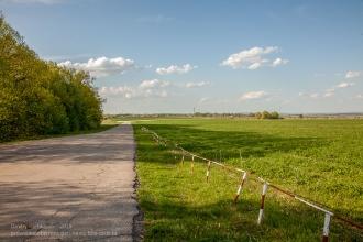 Дорога, по которой приезжают в Лучинник. Вдалеке Большое Болдино