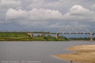 Железнодорожный мост через Клязьму. Фото
