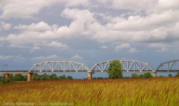 Мост через Клязьму. Вид с заливного луга
