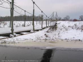 Подвесной мост в Галицах