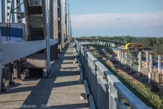 Старый Борский мост и опоры нового