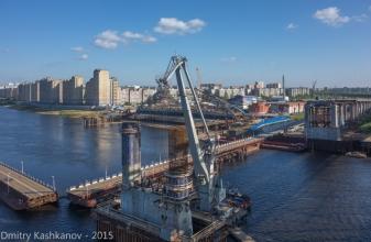 Возведение опор Борского моста