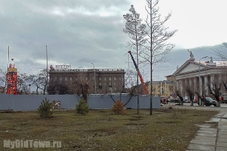 Собор Александра Невского в Волгограде. Фото строительной площадки