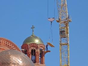 Собор Александра Невского в Волгограде. Рабочий момент. Июнь 2019 года