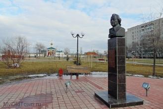 Сквер Доблести и Славы около церкви Параскевы Пятницы. Фото Волгограда