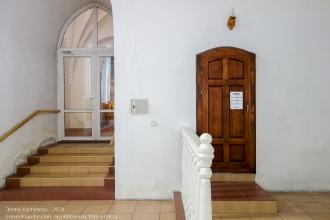 Правдинск. Георгиевская церковь. Вход в башню из главного зала