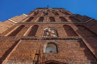 Правдинск. Георгиевская церковь. Икона на фасаде