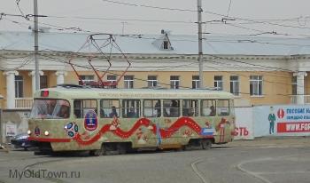 ЧМ-2018 по футболу. Праздничная раскраска трамваев. Волгоград