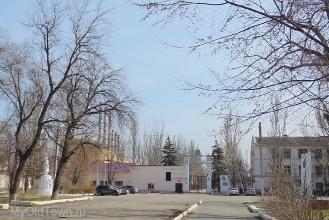 Площадь перед проходной ВолгоГРЭС. Фото Волгограда