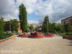Улица Мира. Фонтан - аэратор. Фото Волгограда