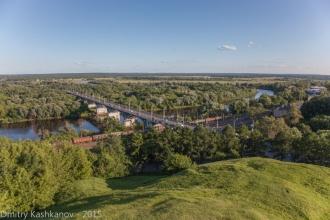 Мост через Клязьму и железная дорога. Фото Владимира