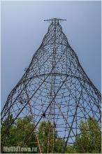 Башня Шухова. Высота 128 метров. Вид снизу.  Фото