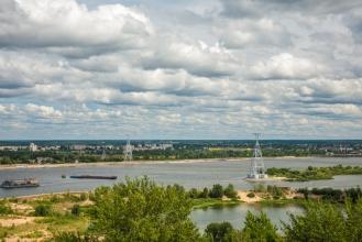 Канатная дорога. Фото Нижнего Новгорода