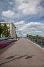 Летний день. Верхне-Волжская набережная. Нижний Новгород