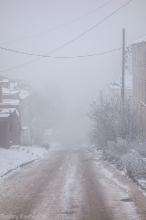 Улица Ильинка. Спуск в туман. Фото