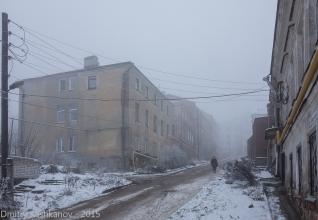 Ильинка. Нижний Новгород. Спуск к Рождественской. Туман