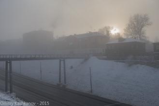 Пешеходный мостик с улицы Заломова на Гребешковский откос. Фото