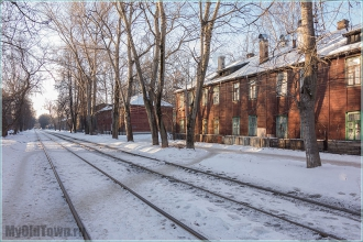 Солнечное утро на улице Профинтерна. Нижний Новгород. Фото старого города