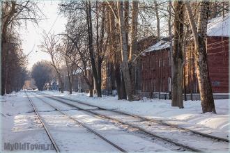 Улица Профинтерна. Нижний Новгород. Трамвайные пути