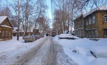 Старая улица в центре Нижнего Новгорода