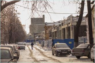 Улица Марата. Фото Нижнего Новгорода. Заброшенная стройка и элеватор