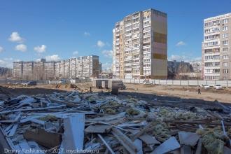 Строительство дороги на ул. Пролетарской. Вид на старое автобусное кольцо