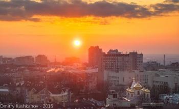 Закат над городом. Фото с дома 64 по ул. Белинского