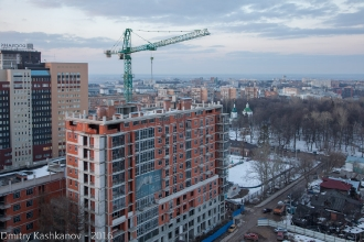 Новые дома на Славянской. Фото с дома 64 по ул. Белинского