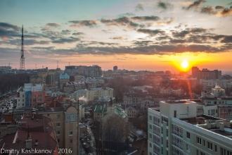 Вечернее фото новых домов между ул. Белинского и Горького