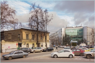 Перекресток улиц Звездинка и Алексеевской. Фото Нижнего Новгорода