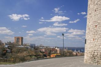 Нижегородский Кремль. У Коромысловой башни. Фото